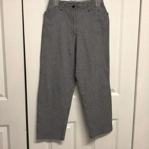 Crazy Horse Checker Cropped Pants